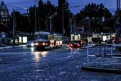 Prag (2013) (neuhold.photography) Tags: abend blauestunde dmmerung hauptstadt prag straenbahn tram tschechien