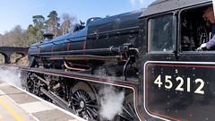 45212 Winchfield 05 April 2016 (13) (BaggieWeave) Tags: winchfield hampshire southwestmainline lswr black5 blackfive 45212 460 cathedralsexpress steam steamengine steamlocomotive steamtrain