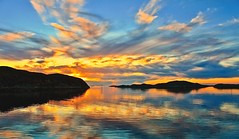 Golden Moment (Kjetil ) Tags: sunset coast ocean sea water flatanger norway nature outdoor cloud seaside ilobsterit
