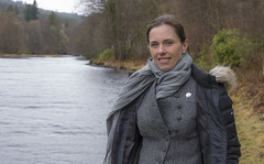 Sarah Bayley Slater (prajpix) Tags: salmon smolt juvenile fish wild invergarry river garry recording people person portrait measuring conservation ast ndsfb invernesshire highlands scotland freshwater water