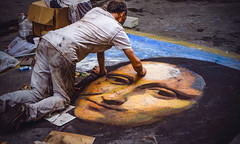 Do you smile to tempt a lover, Mona Lisa?                   Or is this your way to hide a broken heart?  ...  Nat King Cole (Ula P) Tags: monalisa florence firenze italy painting drawing artist colorful sony