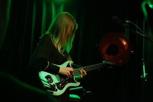 Julia with green guitar @ POKiS, Płock, 06.04.2018