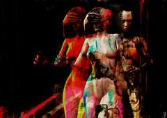 Risk/Artist : Mistero Hifeng (OFF till 24th May/Bamboo Barnes - Artist.Com) Tags: secondlife misterohifeng digitalart virtualart surreal vivid dark manwoman flake shadow light red black white blue yellow bamboobarnes