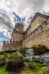 Manzanares el real castle (Lucien Schilling) Tags: manzanareselreal comunidaddemadrid spain es castle cloud clouds stone building old tower castel rock