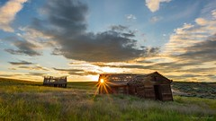 The Promise (Chris Lakoduk) Tags: oldabandoned abandoned house barn field meadow sky sunset sunburst decay derelict sunshine promise homestead landscape photography