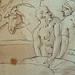 PRIMATICE - Triptyque, Trois Hommes, un Mulet et un Âne auprès d'un Chargement (drawing, dessin, disegno-Louvre INV8574) - Detail 11