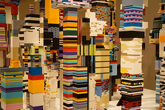 Douglas Coupland; Towers (2014, Lego); Exhibition: everywhere is anywhere is anything is everything (2014) at the Vancouver Art Gallery (2014). Photo by longzijun. (artjouer) Tags: douglascoupland contemporaryart canadianartist canadianart vag vancouverartgallery everywhereisanywhereisanythingiseverything artjouer longzijun mixedmedia