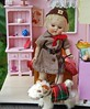 Out for a Walk (Emily1957) Tags: ginny vintage steiff dog brownie hat light naturallight nikond40 nikon kitlens dolls doll toys toy miniature