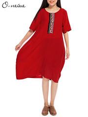 O-NEWE L-5XL Women Ethnic Style Brief Embroidery Lantern Dress (1074401) #Banggood (SuperDeals.BG) Tags: superdeals banggood clothing apparel onewe l5xl women ethnic style brief embroidery lantern dress 1074401