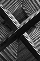 cross (LG_92) Tags: pannonhalma hungary pilgrim pilgrimage chapel wood wooden architecture detail modern minimalism desolate christianity 2018 april nikon dslr d3100 monochrome bw blackandwhite blackwhite noiretblanc schwarzweiss geometric geometry