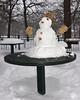 Snowman on table, Minnehaha Park (schwerdf) Tags: minneapolis minnehahapark minnesota snow snowfalling snowmen