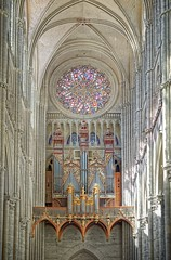 Le grand orgue de la cathédrale Notre-Dame d'Amiens (Fœtal ( Eric M. )) Tags: vertorama amiens cathédrale gothique orgue rosace architecture