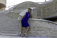 Rosie - cuves against curves. (gregoryscottclarke photography) Tags: rosanneneddo museumofcanadianhistory pink black blue boat stone stairs pathway summer hat