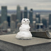 little Snowman (Lionelcolomb) Tags: montréal québec canada ca little snowman bonhomme de neige snow winter amérique nord north america mont royal bokeh f28 sigma canon 1200d lightroom adobe apple imac hiver city skyline sky ciel cloud nuages