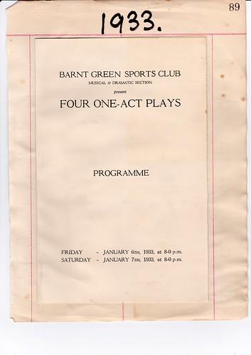 1933: Jan Programme 1