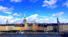 Stockholm Panoramic View (dimaruss34) Tags: newyork brooklyn dmitriyfomenko image sky clouds sweden stockholm buildings church canal panorama panoramicview