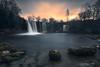 """Sunrise Waterfall"" (las7hesperides) Tags: cascada waterfall winter invierno river río longexposure largaexposición sunrise sunset amanecer landscape paisaje nikond610 nikon tokina"