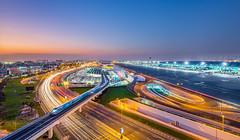 _MG_3369 - Busy Dubai (AlexDROP) Tags: 2018 dubai uae travel architecture longexposure motion movement color city urban landscape canon6d ef16354lis best iconic famous mustsee picturesque postcard bluehour hdr