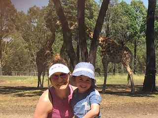 My cousin's wife and their son at Dubbo Zoo (Western Plains Zoo), Australia.