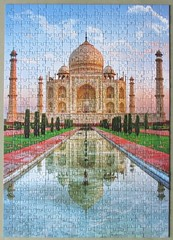 Taj Mahal, India (pefkosmad) Tags: jigsaw puzzle leisure hobby pastime trefl complete used secondhand tajmahal building architecture india reflections view photograph photo