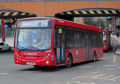 Stagecoach London SELKENT . 36348 LX59ANU . Lewisham Station , South-East London . Tuesday 27th-March-2018 . (AndrewHA's) Tags: lewisham south london bus stagecoach selkent alexander dennis e200 dart adl enviro 200 36348 lx59anu tfl route p4 brixton dulwich dual double door passenger transport service