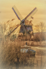 Romantic view at the mill (Hetty S. (catching up)) Tags: mill mills romantic view mood holland landscape alkmaar