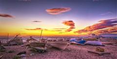 Marina atardeciendo (zapicaña) Tags: zapigata cabodegata cielo nubes clouds beach boat barco barca almeria andalucia españa europa europe sky spain sand sur south sunset