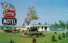 Cardinal Motel, Cornwall, Ontario (SwellMap) Tags: postcard vintage retro pc chrome 50s 60s sixties fifties roadside mid century populuxe atomic age nostalgia americana advertising cold war suburbia consumer baby boomer kitsch space design style googie architecture