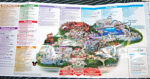 Disney S California Adventure Park Map 2018 A Photo On Flickriver