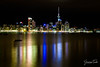 REFLECTED LIGHTS (Cor Lems) Tags: lights night devonport newzealand photography point city cityscape stanley northisland auckland reflection