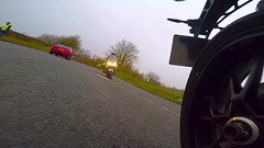 rearward looking camera on wet slippery ,muddy cold roads (covertsnapper1) Tags: goprohero5 triumph speed triple 1050 motorbiker motorcycle actioncamera