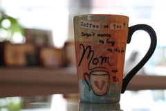 Coffee or Tea? Doesn't matter as long as it's for Mom and Me (MomOfJasAndTam) Tags: coffee tea mug cup mom mother love relationship thebest daughter offspring beverage myheart heart momandme