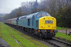 IRWELL VALE 130418 40145 (SIMON A W BEESTON) Tags: elr eastlancashirerailway bury irwellvale ramsbottom 40sat60 40145