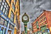 Historic Lowell Clock (Pearce Levrais Photography) Tags: city clock landscape historic restored cloud hdr canon 7d markii greatshot lowell ma