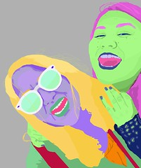 Me and my Mom (odelialovesbooks) Tags: pop art popart digitalart portrait idontknowhowtoworktags