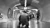 Zenit Jupiter-3 (Зенит Юпитер-3) 50m ƒ1.5 - DSCF9907 (::nicolas ferrand simonnot::) Tags: bokeh depth field dof black white manual prime lens fixed focal length russian macro zenit jupiter3 зенит юпитер3 pt1655 version manufactured ussr by zagorsky optikomechanichesky zavod 1962 | 13 blades aperture m39 ltm streetphotography street photography portrait candid metro subway gate station wide open