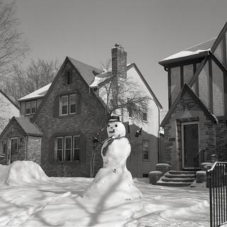 Snowman on Rolleicord