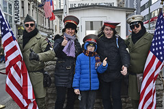 check point charlie (t.horak) Tags: group people hat uniform usa flag berlin germany charlie thumb up ddr
