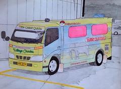 Kathryn Chandria (justjolliciousjoshg) Tags: drawing art publictransport transportation cebu philippines safari elephant boxtype jeepney toyotatoyoace hinodutro hino300 toyota hino