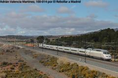 El 100 para las 200 (Adrián Valencia Martínez) Tags: renfe 100 el rebollar lav valencia madrid electrico adif