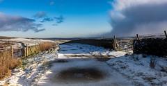 Storm brewin (Phil-Gregory) Tags: natrural naturalphotography naturephotography naturalworld nikon d7200 tokina1120mmatx tokina 1120mmproatx11 colours color lane snow fence wall peakdistrict derbyshire wideangle ultrawide