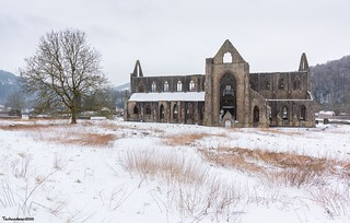 A cold winter at Tintern Abbey