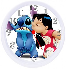 Cute Lilo and Stitch Wall Clock (mywowstuff) Tags: gifts gadgets cool family friends funny shopping men women kids home