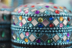 Blues stay away from me (eMMa_bOOm) Tags: macromondays blue theme blues colours coloured macro box sparkles small object hues mirrors dof shallowdof colour themebased bokeh
