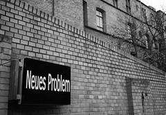 - new problem - (-wendenlook-) Tags: sw bw monochrome urban art berlin panasonic dmcg3 2017 1500 f17 iso160