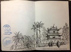 Chihkan Tower, Tainan, Taiwan (an-naw) Tags: urbansketchers urbansketching taiwan usk sketching sketch tainan travelsketches chihkan tower fortprovinzia