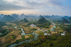 Yangshuo Landscape (dariru2107) Tags: china yangshuo asia valley mountains river beautiful landscape sony a6500 wideangle sel1018 sunset