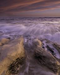 In the Limelight (johnkaysleftleg) Tags: seaham seascape sunrise tidal tide flow limestone waves countydurham durhamcoast northeast england canon760d sigma1020mmf456exdchsm ndhardgrad06