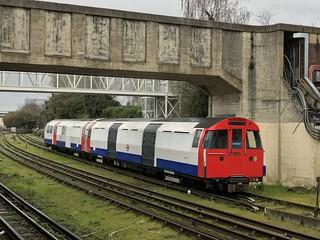 Ex Victoria Line 1967 Tube stock (Rail Adhesion Train)