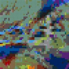 Chalchiuhtlicue_Result (fsaiwxbm12) Tags: lego art bricks blocks patterns mosaics codes symbols
